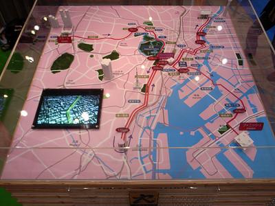 Tokyo marathon map
