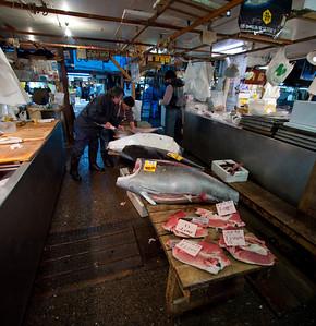 Tuna for sale by the slab - Tsukiji
