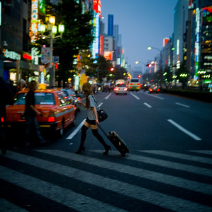 hostess heading off to work - Kabukicho